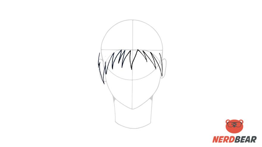 How To Draw Male Anime Hair Spiky Hair 3
