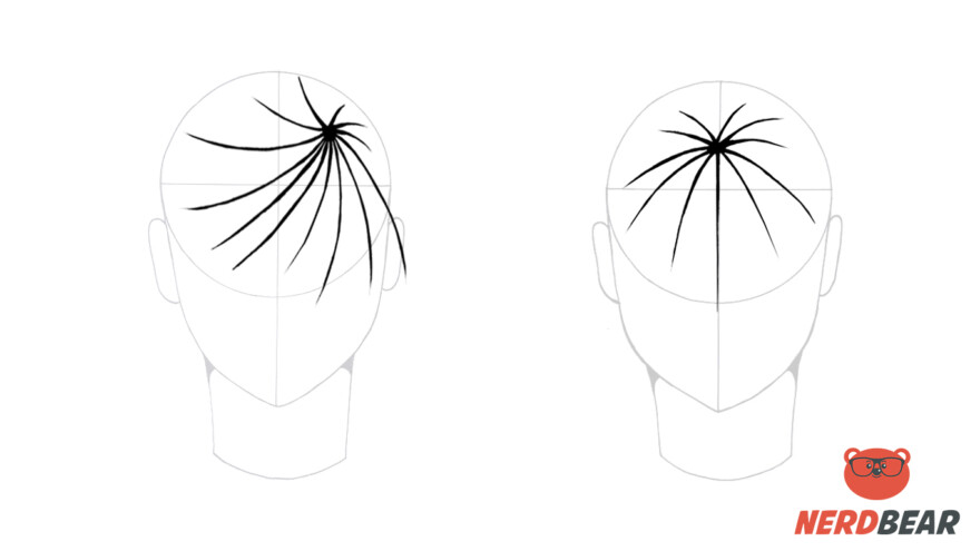 How To Draw Male Anime Hair Straight 1