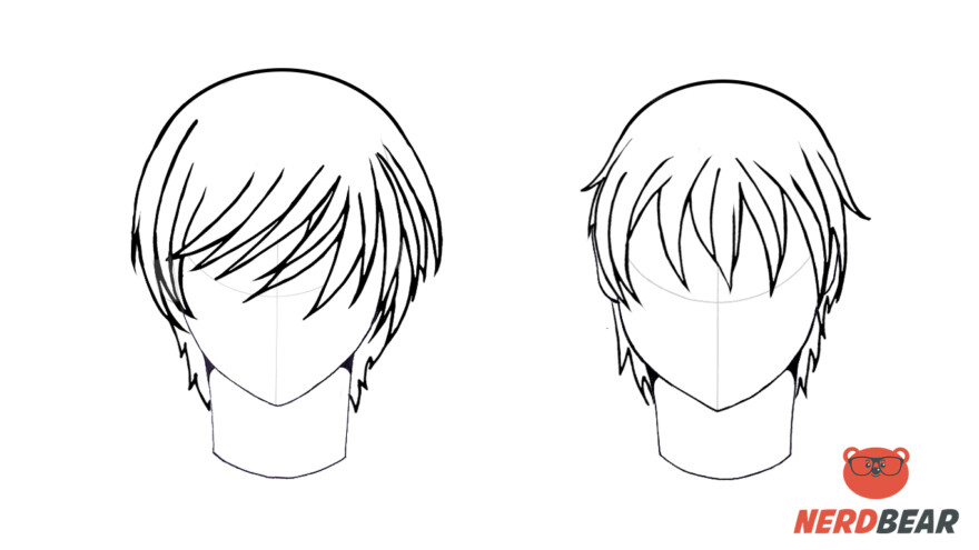 How To Draw Male Anime Hair Straight 6