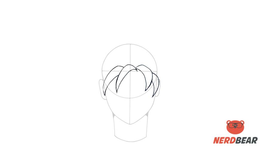 How To Draw Super Saiyan Hair 1