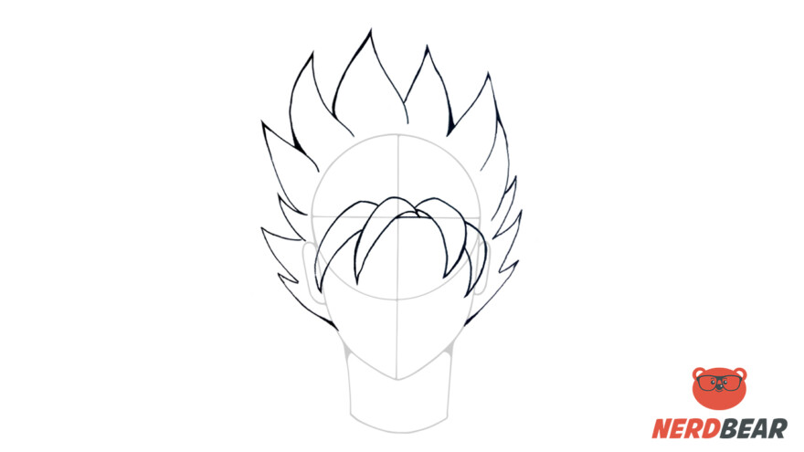 How To Draw Super Saiyan Hair 3