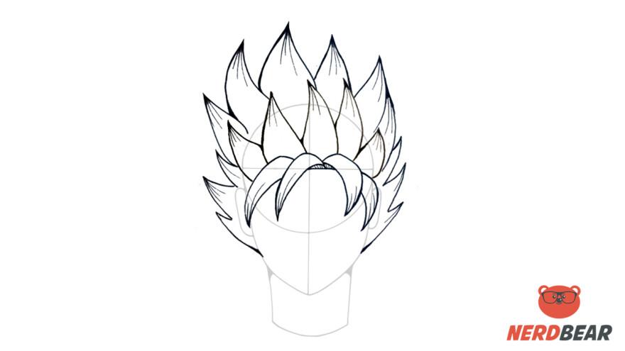 How To Draw Super Saiyan Hair 6