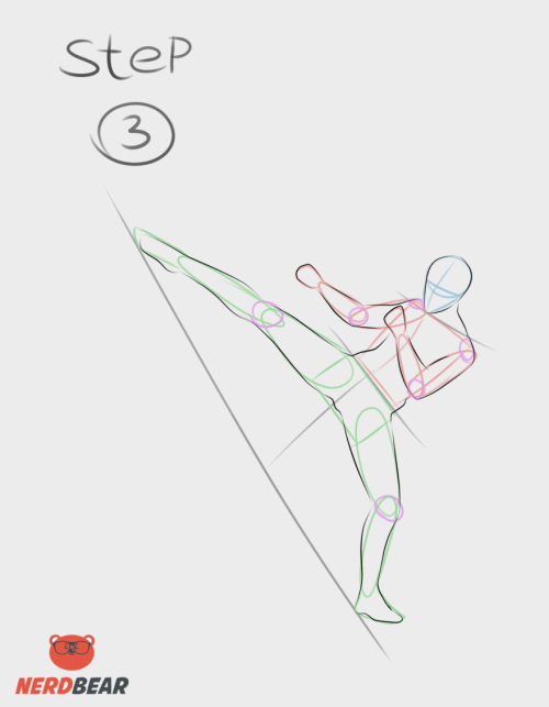 Kicking Pose Anime Boy 3