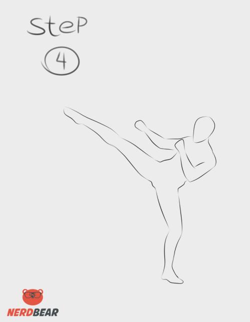 Kicking Pose Anime Boy 4