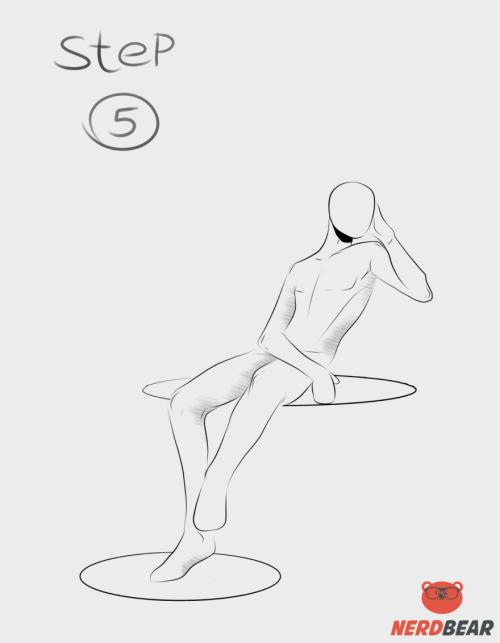 Sitting Pose Anime Boy 5