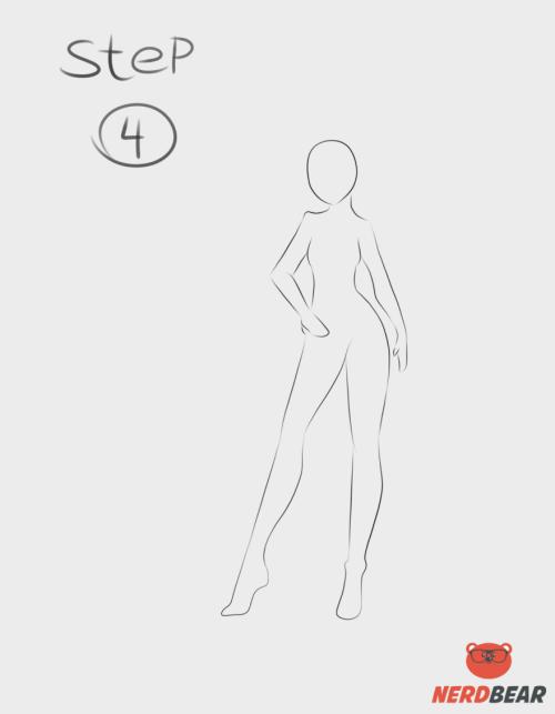 Standing Anime Girl 4