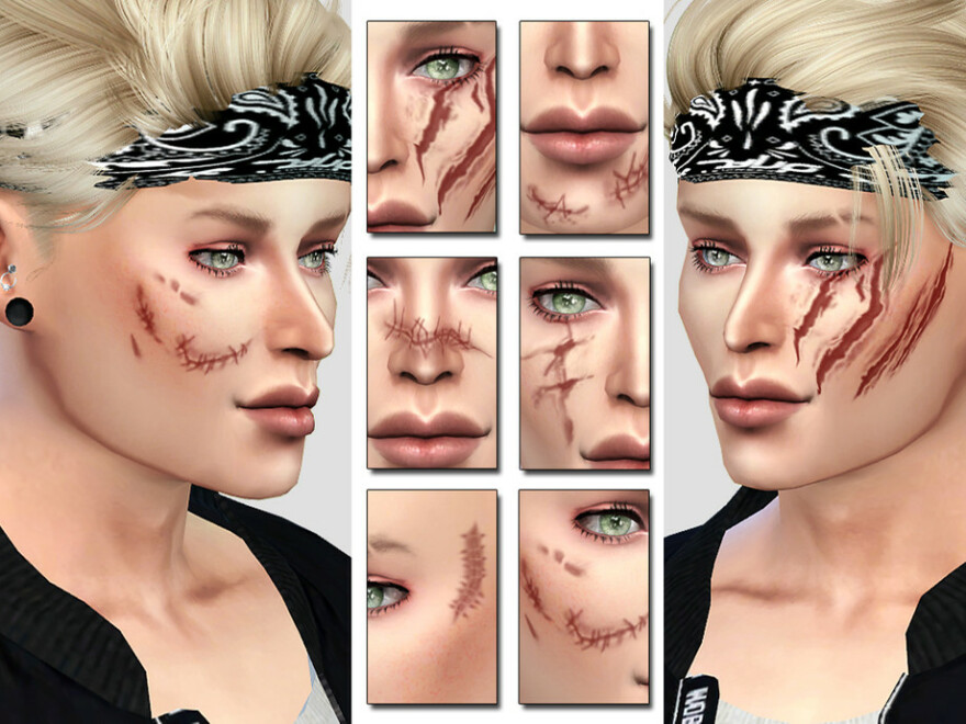 Bad Face Scars