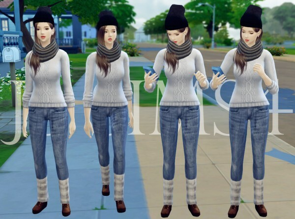 Denim Jeans With Warm Socks