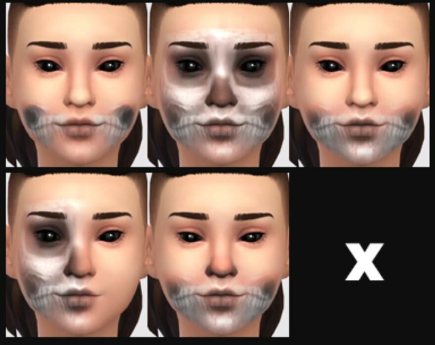Ghost Skeleton Makeup
