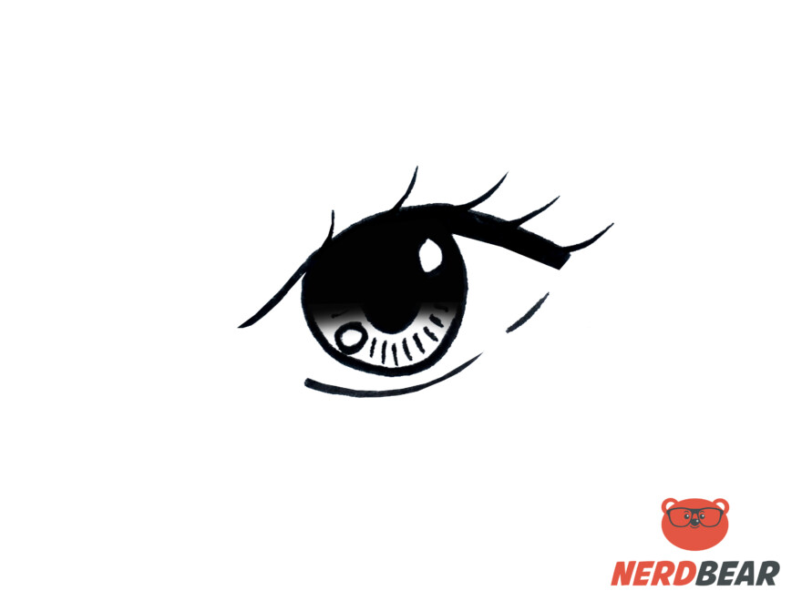 How To Draw Almond Shape Anime Eyes 7