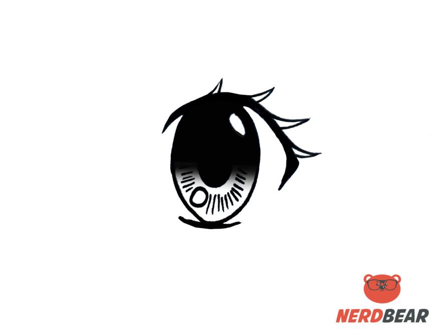 How To Draw Big Feminine Anime Eyes 8
