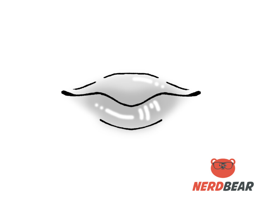 How To Draw Round Anime Lips 5