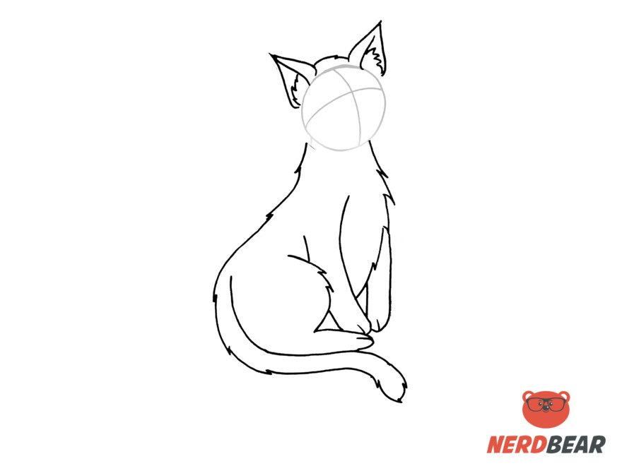 How To Draw A Sitting Anime Cat 7
