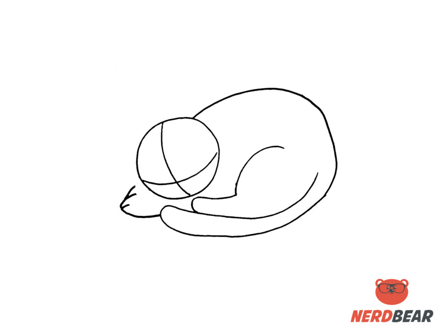 How To Draw A Sleeping Anime Cat 4