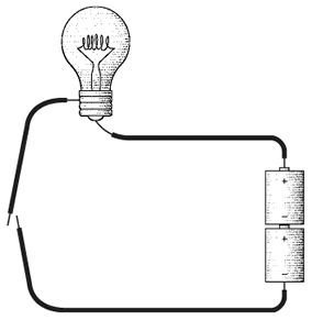 Learn programming using wire, light bulbs, a battery, and