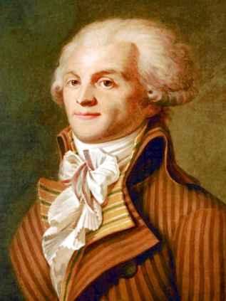 """Fransız Devrimi'nin önde gelen hukukçu ve siyasetçisi, """"devlet terörizmi""""nin savunucusu Maximilien Robespierre."""