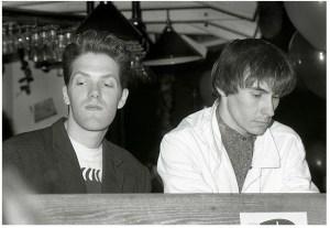 Hughes, a sinistra, e Morrison, a destra, formato anni '80