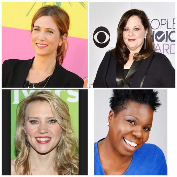 Melissa McCarthy, Kristen Wiig, Leslie Jones e Kate McKinnon -  le nuove Ghostbusters