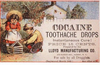 Cocaine for tooth relief, who'da thunk it?