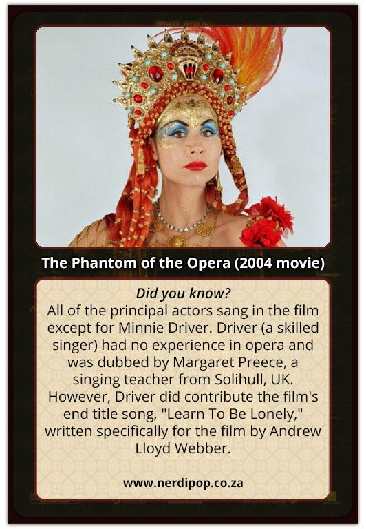 32 Fun Facts About The 2004 Movie The Phantom Of The Opera