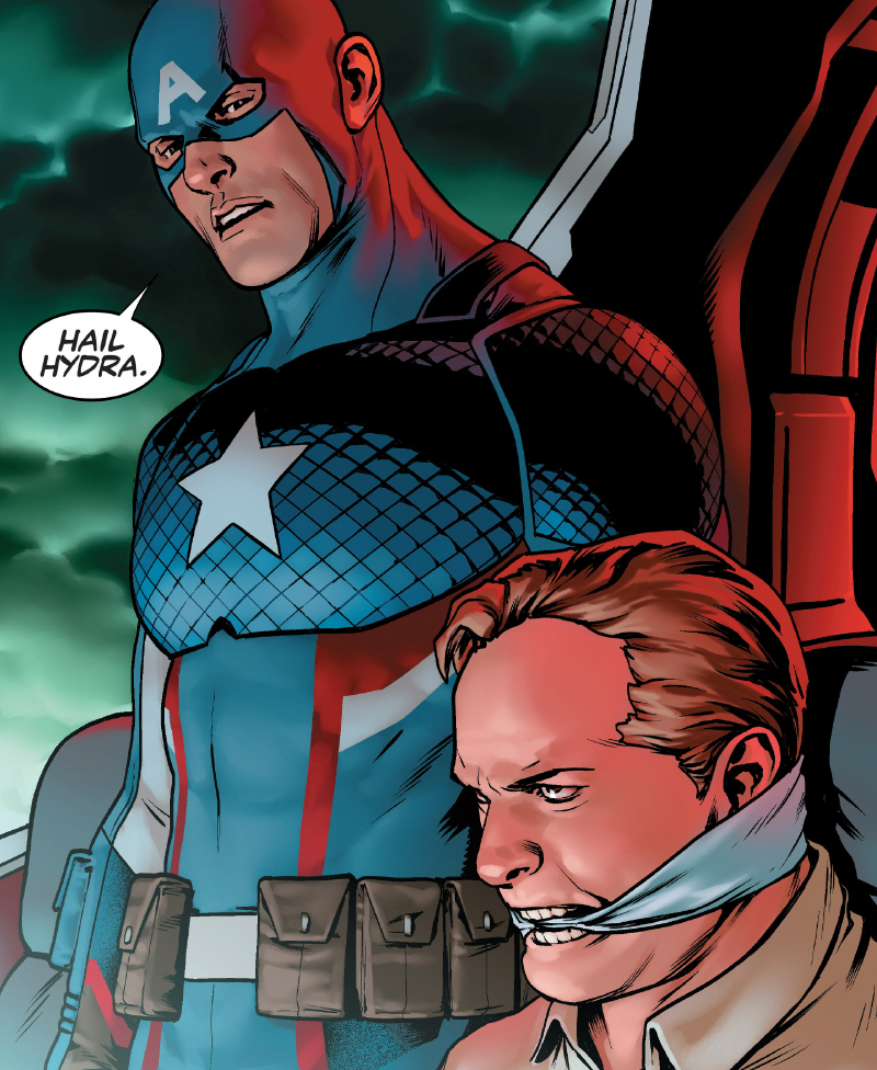 Image result for captain america hail hydra