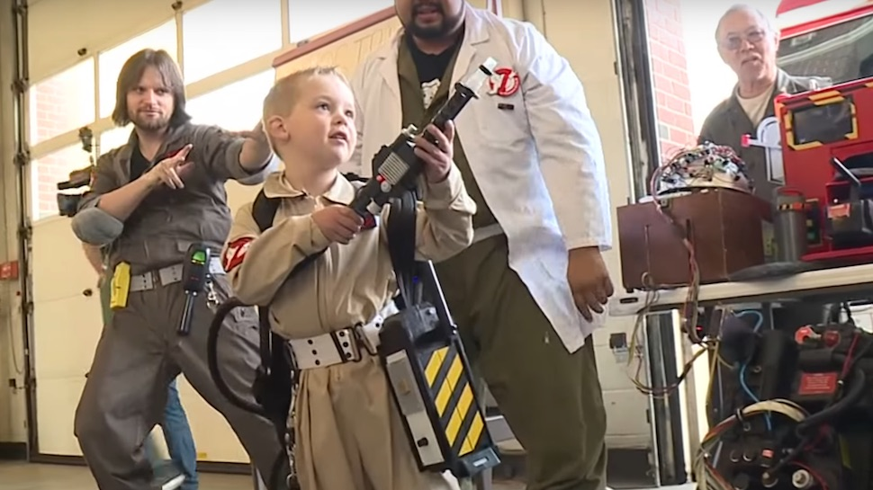 Make A Wish Helps 5 Year Old Boy Be A Ghostbuster For A Day Nerdist