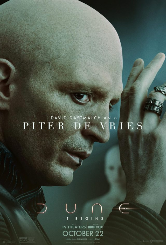 Dune character poster depicting Piter