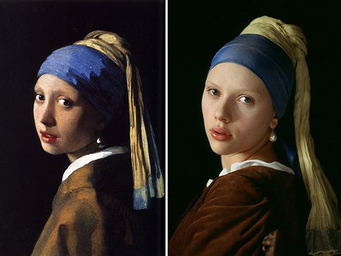 Pinturas clássicas reproduzidas de forma criativa