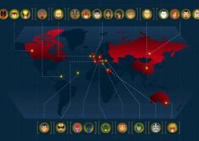 Gráfico mostra as cidades natais dos heróis e vilões da Marvel