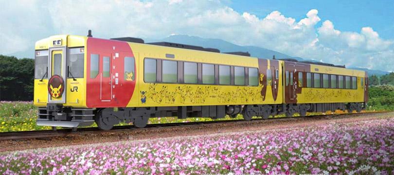 Trem Pokémon do Japão ganhará novo visual inspirado no Pikachu