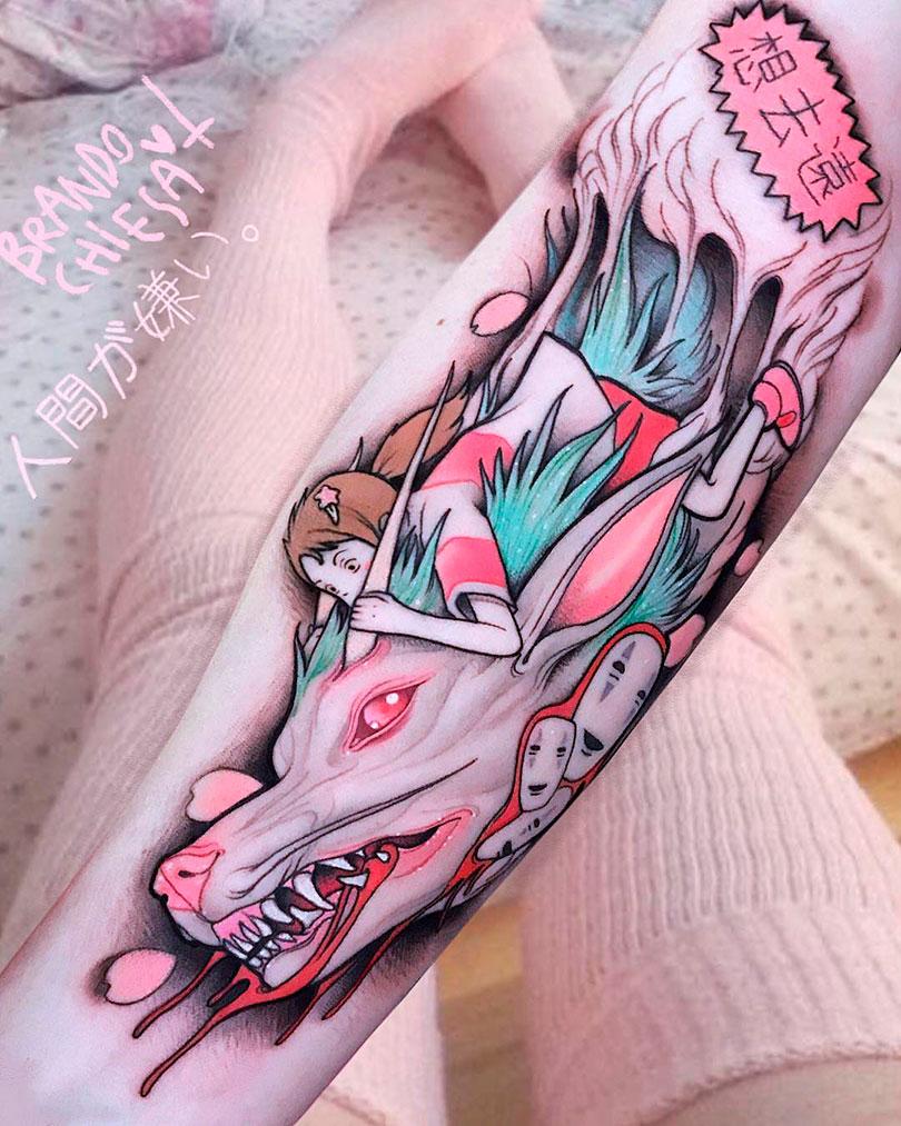 As tatuagens rosas e loucas de Brando Chiesa