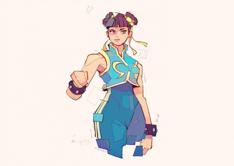 Ilustrações de Street Fighter, por Michael Firman