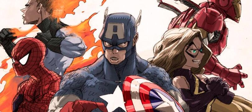Criador do My Hero Academia desenha heróis da Marvel e Final Fantasy