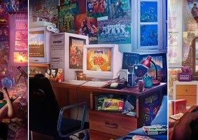 A nostalgia dos anos 90 em ilustrações
