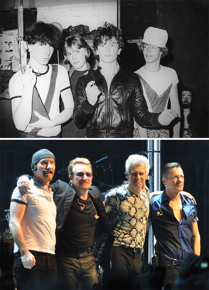 Fotos de 20 bandas depois e antes de ficarem famosos