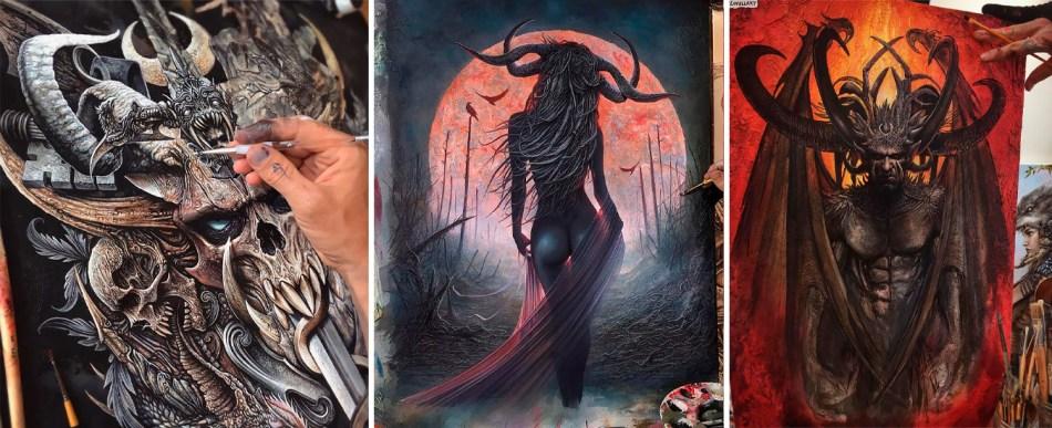 Magníficas pinturas obscuras de Christopher Lovell