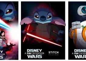Personagens da Disney e Star Wars se juntam