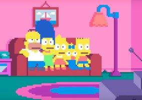 A abertura dos Simpsons em pixels