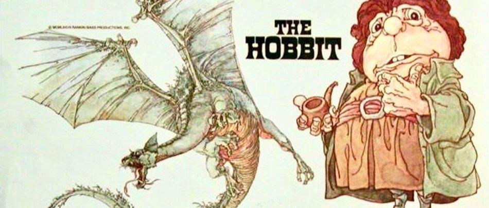 As artes do Hobbit de 1977, animação do antigo Studio Ghibli