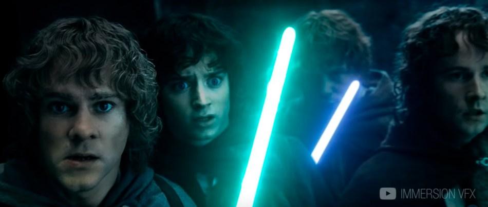 A Batalha de Moria com sabres de luz