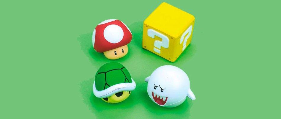 Bolas antistress do Mario Bros para aliviar a tensão