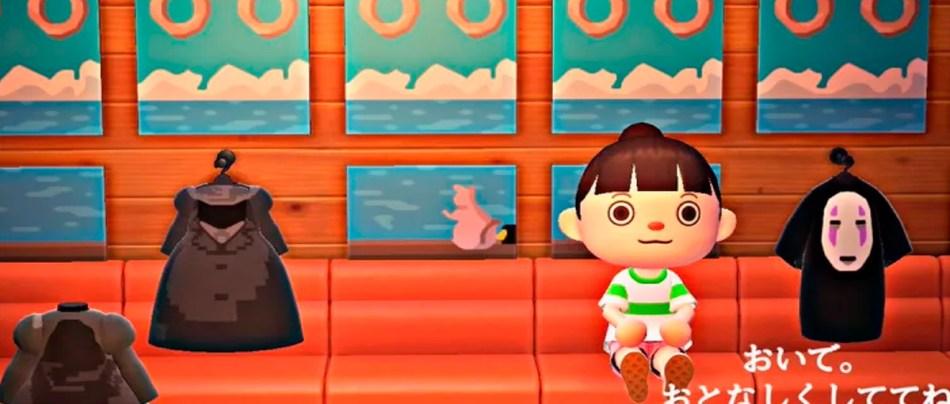 A Viagem de Chiriro recriada em Animal Crossing
