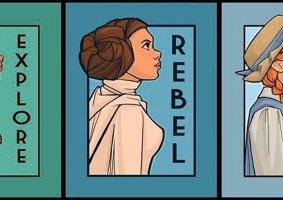 Mulheres poderosas da cultura pop em ilustrações