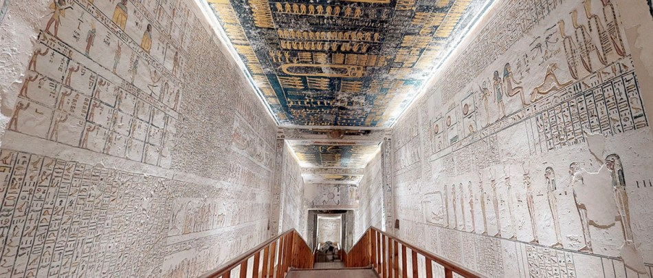 Visite a tumba do Faraó Ramsés VI recriada em 3D