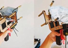 Inventor cria arma que atira máscaras na cara das pessoas