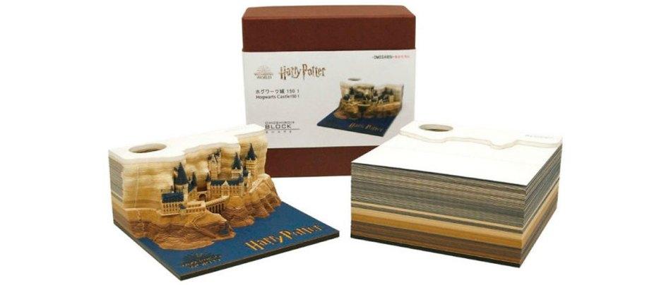 Bloco de notas de Hogwarts revela o castelo aos poucos