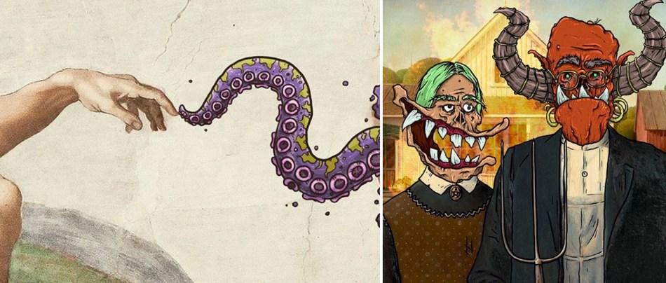 Monstros inseridos em obras clássicas
