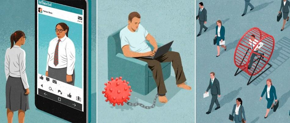 20 Críticas a problemas da sociedade em ilustrações