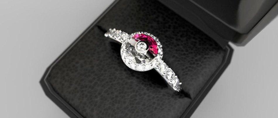 Um anel de noivado do Pokémon