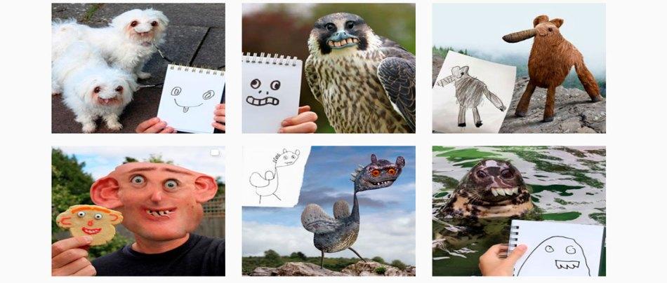 Pai transforma desenhos de crianças em fotos surreais